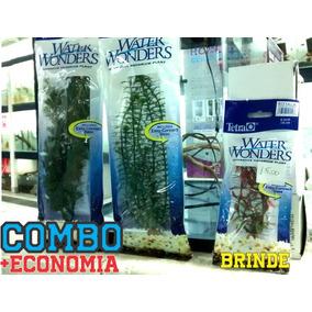 2 Plantas Artificiais Tetra Water Wonders+ Brinde Combo