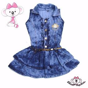 Vestido Infantil Jeans Rodado Estilo Lilica Ripilica