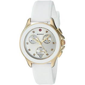 Michele Womens Cape Chrono Swiss Quartz Stainless Steel And
