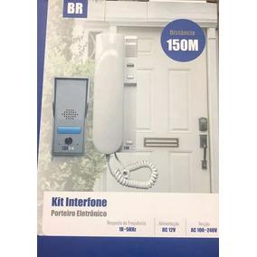 Kit Interfone Porteiro Eletrônico Residencial Casa Monofone