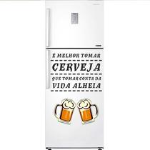 Adesivo Decorativo Geladeira - É Melhor Tomar Cerveja P