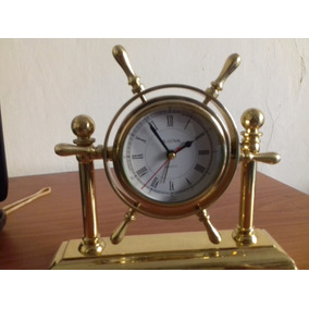 Hermoso Reloj Original Bulova Timón Barco Marinero