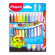 Marcadores Maped Colorpeps Jungle X12