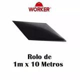 Piso De Borracha Liso - Rolo Com 10mx1mx6,4mm-worker