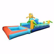 Brincolin Inflable Escaladora Bob Esponja Acuatico 3x8m