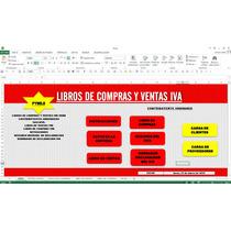 Libros De Compras Y Ventas Iva,en Excel
