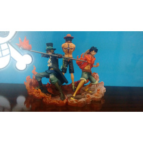 One Piece Kit Luffy + Ace + Sabo A Pronta Entrega