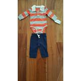 Carters Conjunto Para Recien Nacido Body Pantalon +saquitos