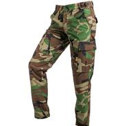 Pantalon Tactico Camuflado Woodland Selva Rip Stop Corte Bdu