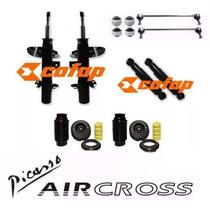04 Amortecedor + Kit Citroen C3 Aircross Picasso 100% Novo