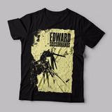 Camiseta Edward Mãos De Tesoura Preta Feminina