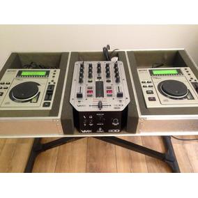 Par Cdj 20 Gemini Mixer Behringer Vmx 200 Case Cabos Tudo Ok