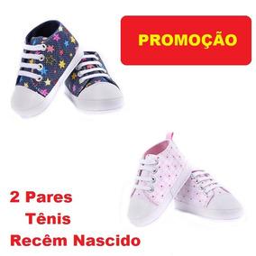 Tênis 2 Pares Bêbê Feminino Rosa Black Friday Mega Presentão