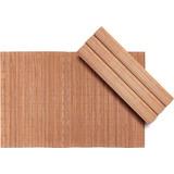 Jogo Americano Bambu Kit Com 12 Peças Retangular Kala 30x45