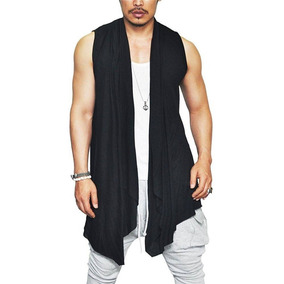 Colete Comprido Masculino Kimono Longline Oversized Swag