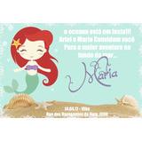 10 Convite Sereia Ariel Princesa 10x15 Frete Gratis Ju Uva