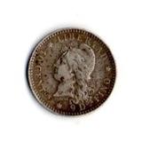 Argentina, 10 Centavos De Patacón 1883 - Plata 900