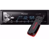 Aparelho Media Pioneer Mvh-x588bt Mvh588 Usb Bluetooth 3 Rca