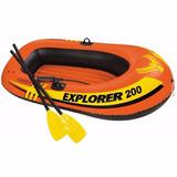 Bote Inflable Intex Explorer 200 Set 2 Personas + Remos