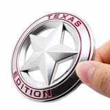 Emblema Estrella Red Texas Editon Dodge Ram Cromado 7.5 Cm