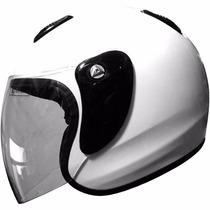Casco Zpf 601 Abierto Con Visor Rebatible Motos Cafe Custom