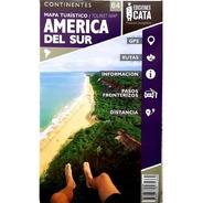 Mapa Rodoviário E Turístico Impresso América Do Sul