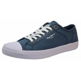 Tenis Pepe Jeans Randall Azul Hombre Caballero Rudos