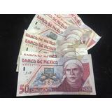 Un Billete 50 Pesos Morelos Papel Condición Usado