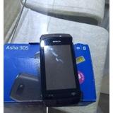 Celular Nokia Asha 305 -02chip,seminovo,desbl.