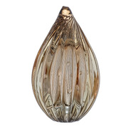 Pinha Peq Vidro Murano - Gold Translúcido