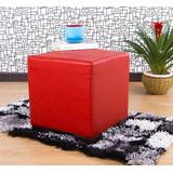 Mueble Puff Ontario 40x40x38 Cm Rojo
