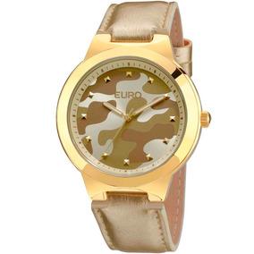 Relógio Euro Feminino Militar Dourado - Eu2035ybj/2d