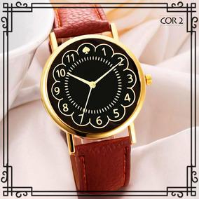 Relógio Feminino Pulseira De Couro Bom Preço Promoção