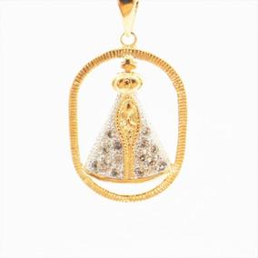Nossa Senhora Gravida Semi Joias - Pingentes Folheada a Ouro no ... 6e97c296cd