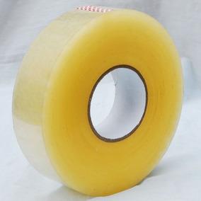 Fita Larga Transparente 500mt Barata Para Embalar Caixas