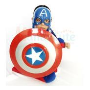 Disfraz Capitán América Niño Premium Alta Calidad Disfraces