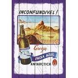 Placa Vintage King Mdf 39x27cm Cerveja Faixa Azul Bc.03204