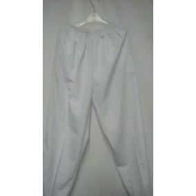 Pantalon Blanco C/resorte Unisex Mod. H1-12.2