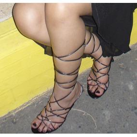 Sandalias Trenzadas De Fiesta 36 Y Medio