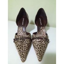 Lindo Sapato Feminino Scarpin - Tamanho: 39 - Couro E Cetim