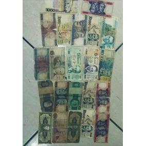 Notas Antigas Lote Com 22 P/ Colecionadores Dinheiro Antigo