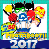Kit Imprimible Avenger Super Heroes Photo Booth Props Fiesta