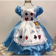 Vestido Alice No Pais Das Maravilhas Super Luxo Temático