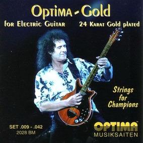 Queen Brian May Jogo De Cordas De Ouro Oficial Para Guitarra