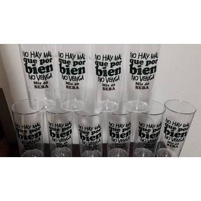 10 Vasos Platico Cristal Personalizados !!!!