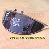 Visera Optica Faro Moto Auto Camion Micro Acero Aguila 3d