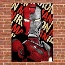 Poster Quadro Em Madeira Iron Man Homem De Ferro