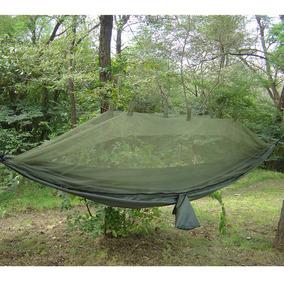 Hamaca Portatil Camping Con Tela Mosquitera Soporta 181kg