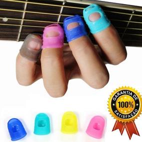 Protetor De Dedo Silicone Dedeira Palheta Violão/guitarra
