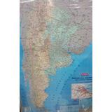 Mapa Mural Argentina Rutero Rutas Aca Laminado 130 X 95 Cms